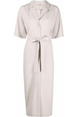 12 STOREEZ Women Tunics - Tie-waist kimono dress - Neutrals