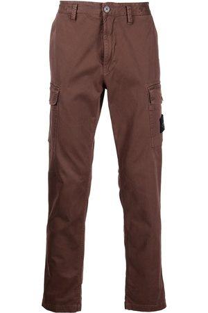 Stone Island Men Cargo Pants - Logo-patch cargo trousers