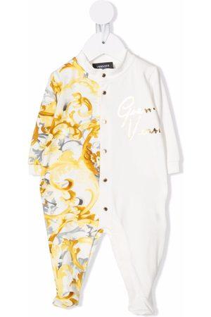 VERSACE Pajamas - Barocco-print panelled pyjamas