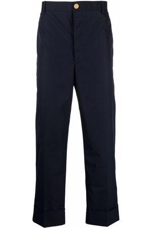 Thom Browne Men Formal Pants - RWB stripe tailored trousers