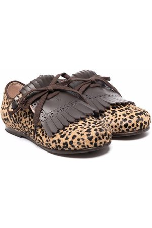 BONPOINT Leopard-print ballerina shoes - Neutrals