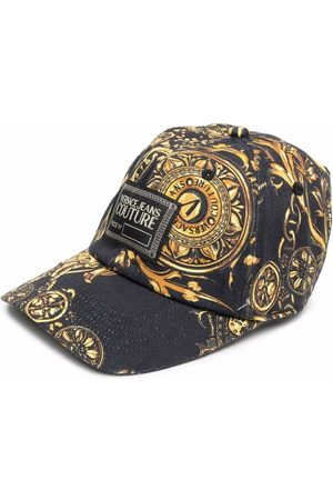 VERSACE Men Caps - Logo-patch detail baseball cap