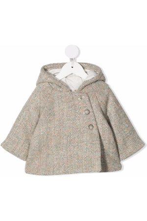 BONPOINT Herringbone wool coat - Neutrals