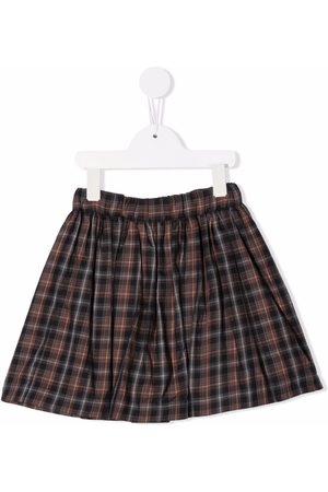 BONPOINT Girls Skirts - Plaid-check A-line skirt