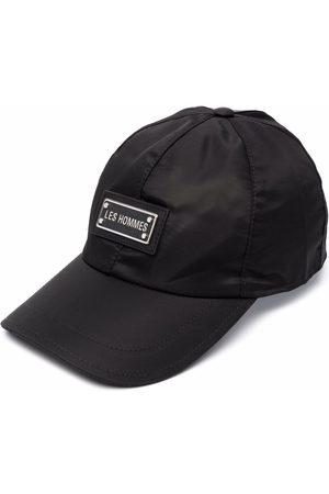 Les Hommes Men Caps - Logo plaque baseball cap
