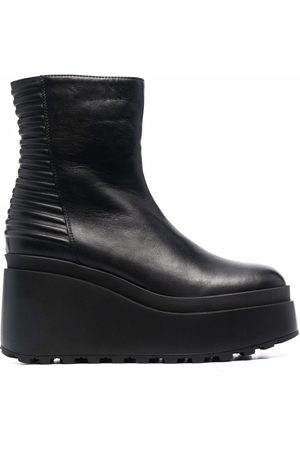Vic Matie Women Heeled Boots - Ribbed panel platform boots