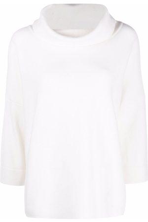 SNOBBY SHEEP Women Sweaters - Draped neck rib-trimmed jumper