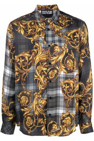 VERSACE Tartan Baroque print shirt