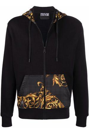 VERSACE Men Hoodies - Baroque-print panel hoodie