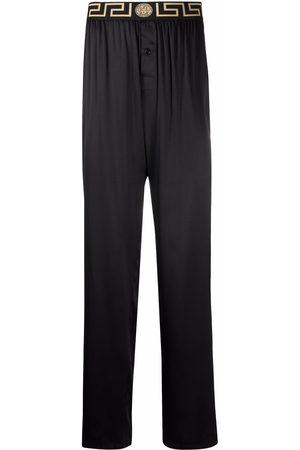 VERSACE Greca-pattern elasticated-waistband trousers