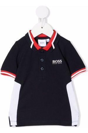 HUGO BOSS Polo Shirts - Colourblock logo-print polo shirt
