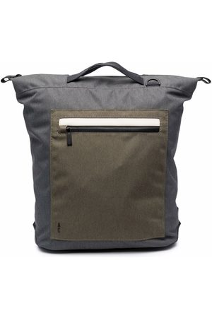 ALLY CAPELLINO Colour-block zipped backpack - Grey