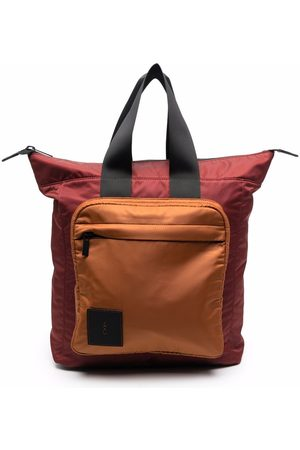 ALLY CAPELLINO Rucksacks - Logo-patch colour-block backpack
