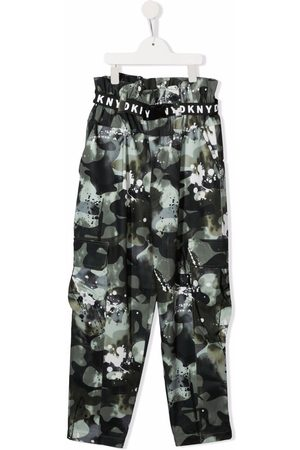 DKNY TEEN camouflage-print cargo trousers