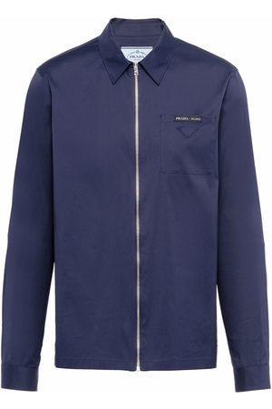 Prada Zip-up cotton shirt