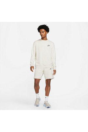 Nike Men Sports Shorts - Men's Sportswear Sport Essentials+ Semi-Brushed Shorts in Grey/Light Bone Size Small Cotton/Polyester