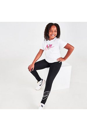 Nike Girls Sports Leggings - Girls' Sportswear Favorites Graphic Leggings in / Size Small Cotton