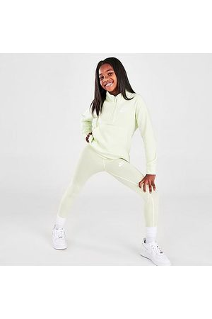 Nike Girls' Sportswear Favorites High-Rise Leggings in /Lime Ice Size Small Cotton