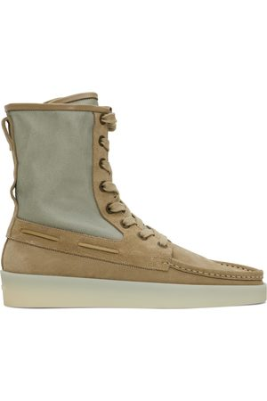 FEAR OF GOD Men Boots - Taupe & Green Boat Boots