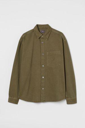 H&M Men Denim Jackets - Denim Shirt Jacket