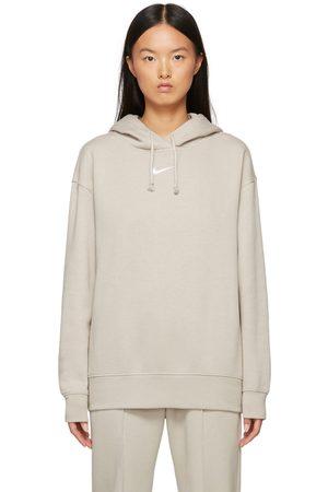 Nike Women Sports Hoodies - Taupe Sportswear Essential Hoodie