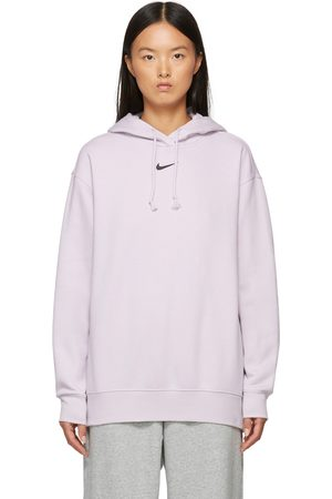 Nike Women Sports Hoodies - Purple Sportswear Essential Hoodie