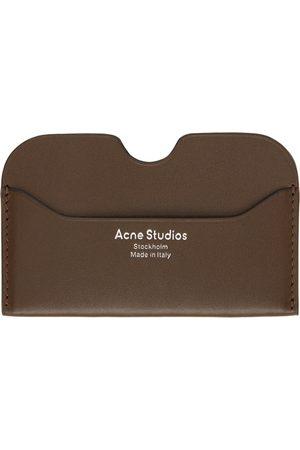 Acne Studios Brown Logo Card Holder