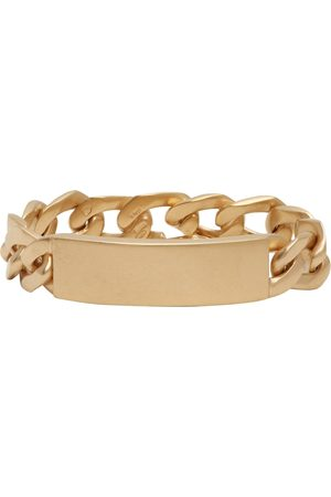 Maison Margiela Women Bracelets - Gold Chain ID Bracelet