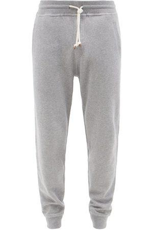 Brunello Cucinelli Men Sweatpants - Tapered-leg Cotton-blend Jersey Track Pants - Mens - Grey