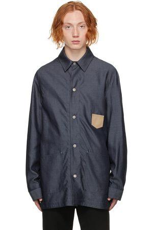 Maison Margiela Men Denim Jackets - Indigo Denim Workwear Jacket