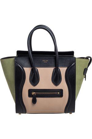 Céline Tri Color Nubuck and Leather Micro Luggage Tote