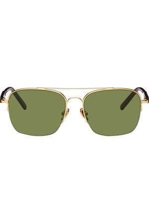 Retrosuperfuture Men Sunglasses - Gold & Green Adamo Sunglasses