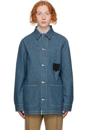 Maison Margiela Men Denim Jackets - Blue Denim Workwear Jacket