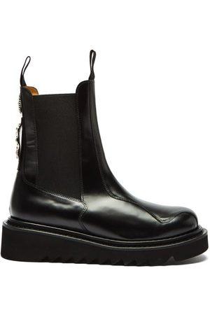 TOGA VIRILIS Metal-engraved Leather Chelsea Boots - Mens