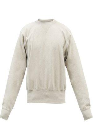 Maison Margiela Men Sports Hoodies - Crew Neck Cotton-jersey Sweatshirt - Mens - Grey