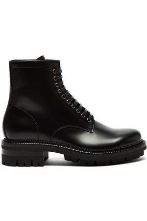 Dsquared2 Men Ankle Boots - Lace-up Leather Ankle Boots - Mens