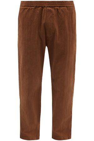 BARENA Men Pants - Bativoga Cotton-herringbone Trousers - Mens