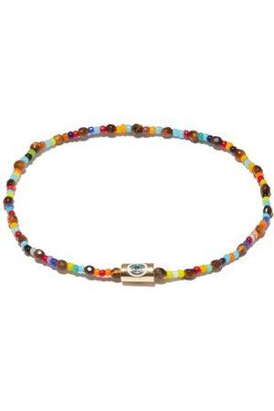 LUIS MORAIS Tiger's Eye, Glass & 14kt Gold Beaded Bracelet - Mens - Multi