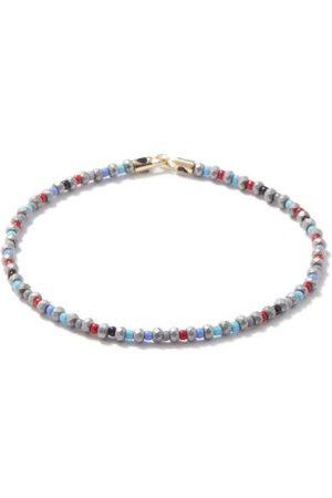 LUIS MORAIS Men Bracelets - Hematite & 14kt Gold Beaded Bracelet - Mens - Multi