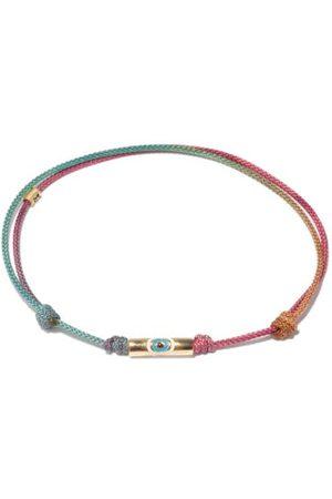 LUIS MORAIS Men Bracelets - Evil Eye 14kt Gold & Cord Bracelet - Mens - Multi