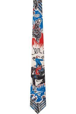Paul Smith Men Neckties - Blue Silk Cowboy Tie