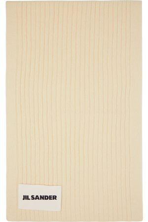 Jil Sander Women Scarves - Off-White Wool Scarf