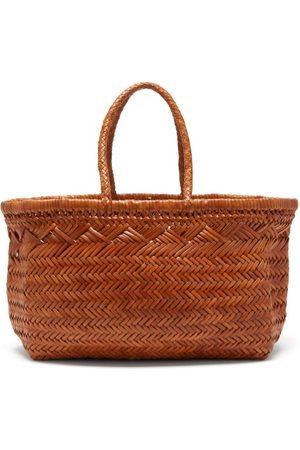 Dragon Diffusion Women Purses - Triple Jump Woven-leather Basket Bag - Womens - Tan