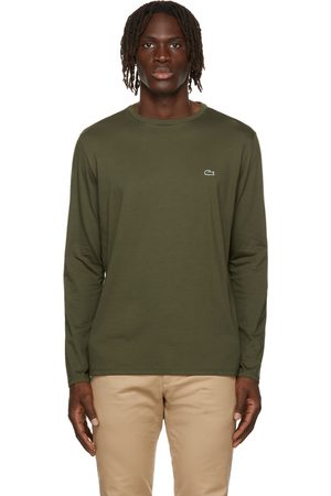 Lacoste Men Long Sleeve - Green Pima Cotton Long Sleeve T-Shirt