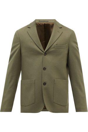 OFFICINE GENERALE Men Blazers - Tene Brushed Wool-blend Twill Blazer - Mens - Khaki