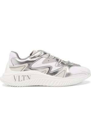 VALENTINO GARAVANI Leather And Suede Trainers - Mens