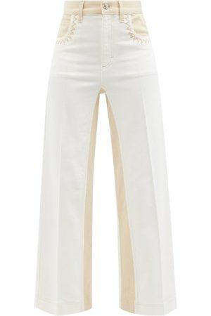 Chloé Women Wide Leg - Striped Wide-leg Jeans - Womens