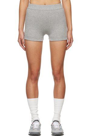 Thom Browne Women Shorts - Grey Cashmere Rib Brief Boy Shorts