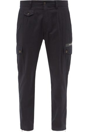Dolce & Gabbana Tapered Cotton-blend Twill Combat Trousers - Mens - Navy