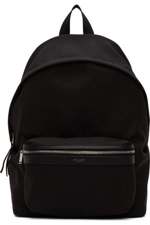 Saint Laurent Men Luggage - Black Canvas City Backpack